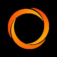 eindloze spanband in blauw - geel - oranje - kaki - rood