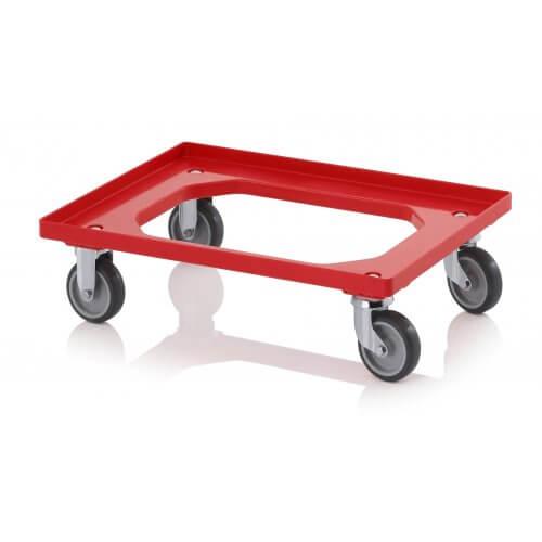 Transportroller compact met rubberen wielen
