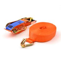 sangle d'arrimage 4 tonnes 9 mètres orange avec crochets à griffes