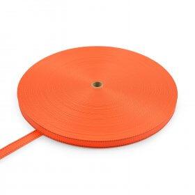 Polyester band 25mm 1200kg met strepen oranje (2020)>