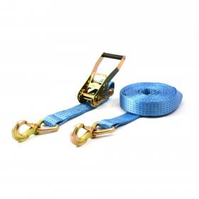 Spanband 5 ton + triangelhaken - 10 meter blauw MB>