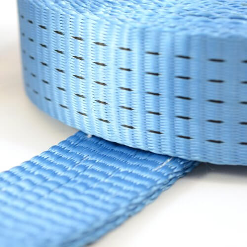 Spanband 5 ton + triangelhaken - 10 meter blauw MB