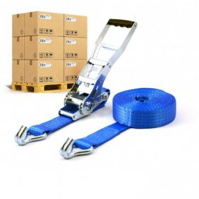 Pallet ERGO 5T - 9m - 50mm - 2-delig - spitshaken - Wit verzinkt - Blauw - 192st.>