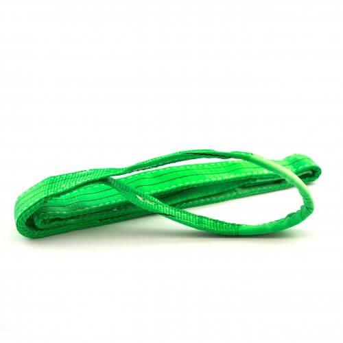 Sangle de levage 2 tonnes, verte (1 à 8 mètres)